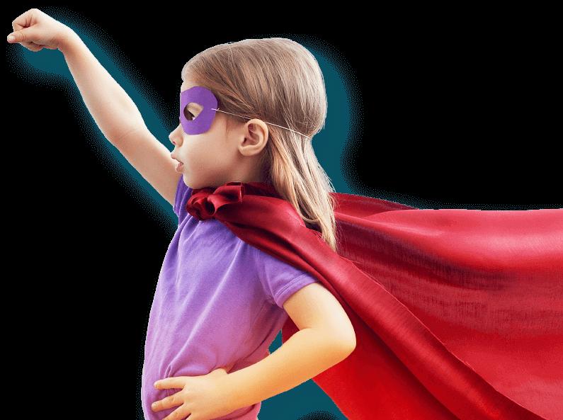 маленькая девочка супергерой