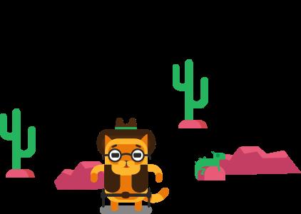 котик с парашютом